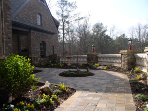 After Picture of Hardscaping on Driveway | Mansell Landscape