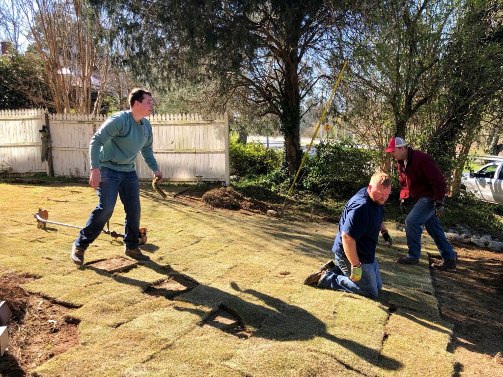 Laying Sod On Lawn | Mansell Landscape Management